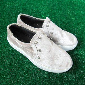 Rebecca Minkoff Studded Platform Sneaker / Velvet